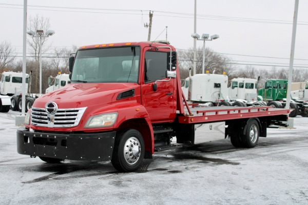 Used 2010 Hino 268 Rollback Flatbed Tow Truck for sale $39,800 at Midwest Truck Group in West Chicago IL
