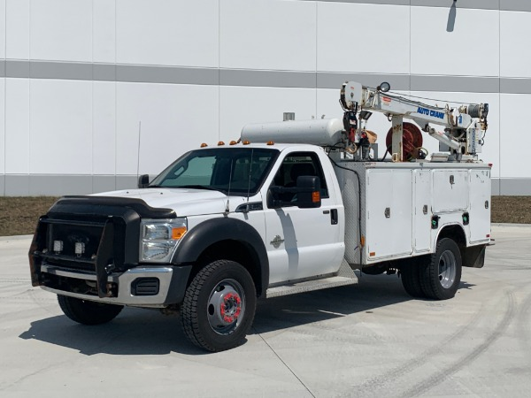 Used 2013 Ford F550 XLT 4X4 Service Truck for sale $35,800 at Midwest Truck Group in Carol Stream IL