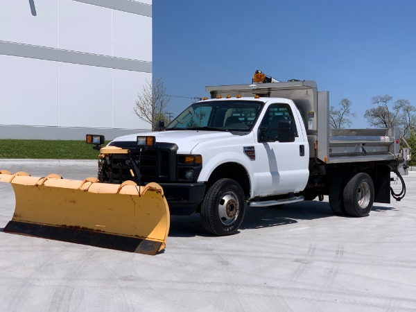 Used 2009 Ford F-350 XL Super Duty with Snow Plow/Spreader/Cable Hoist for sale $26,800 at Midwest Truck Group in Carol Stream IL
