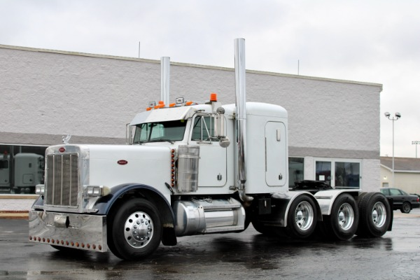 Used 2002 Peterbilt 379 Tri-Axle with Lift-CAT C15 6NZ-550 HP-Double Wet Kit for sale $65,800 at Midwest Truck Group in West Chicago IL