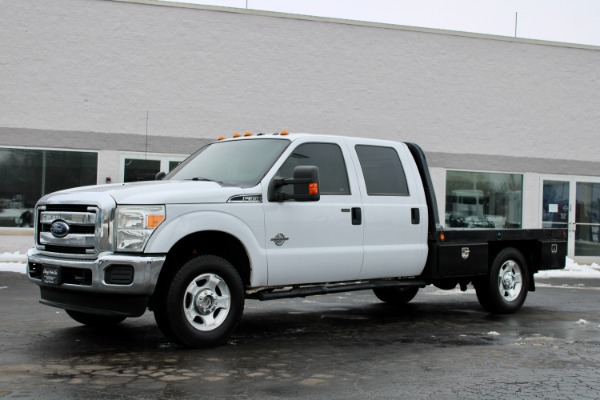 Used 2013 Ford F-350 Super Duty XLT 4x4 Diesel Flat Bed with 5th Wheel for sale $22,800 at Midwest Truck Group in West Chicago IL