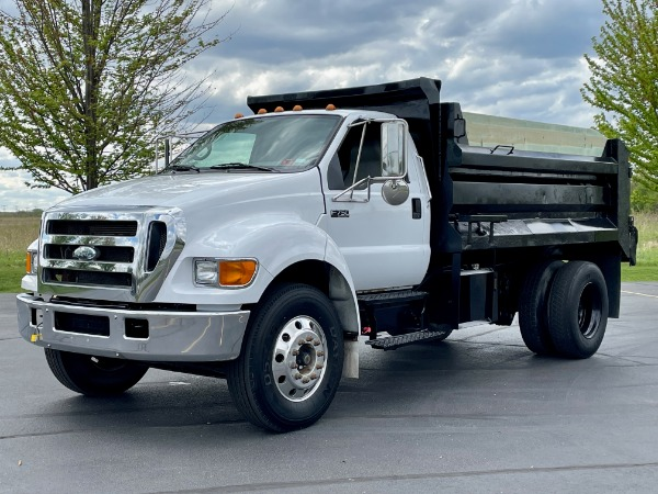 Used 2007 Ford F750 Super Duty Dump Truck - CAT DIESEL - Automatic - SUPER CLEAN! for sale $49,800 at Midwest Truck Group in West Chicago IL