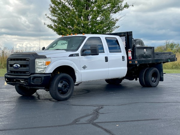 Used 2011 Ford F-350 Super Duty XL 4x4 Crew Cab - 6.7 PowerStroke Diesel - Flat Bed for sale $24,800 at Midwest Truck Group in West Chicago IL